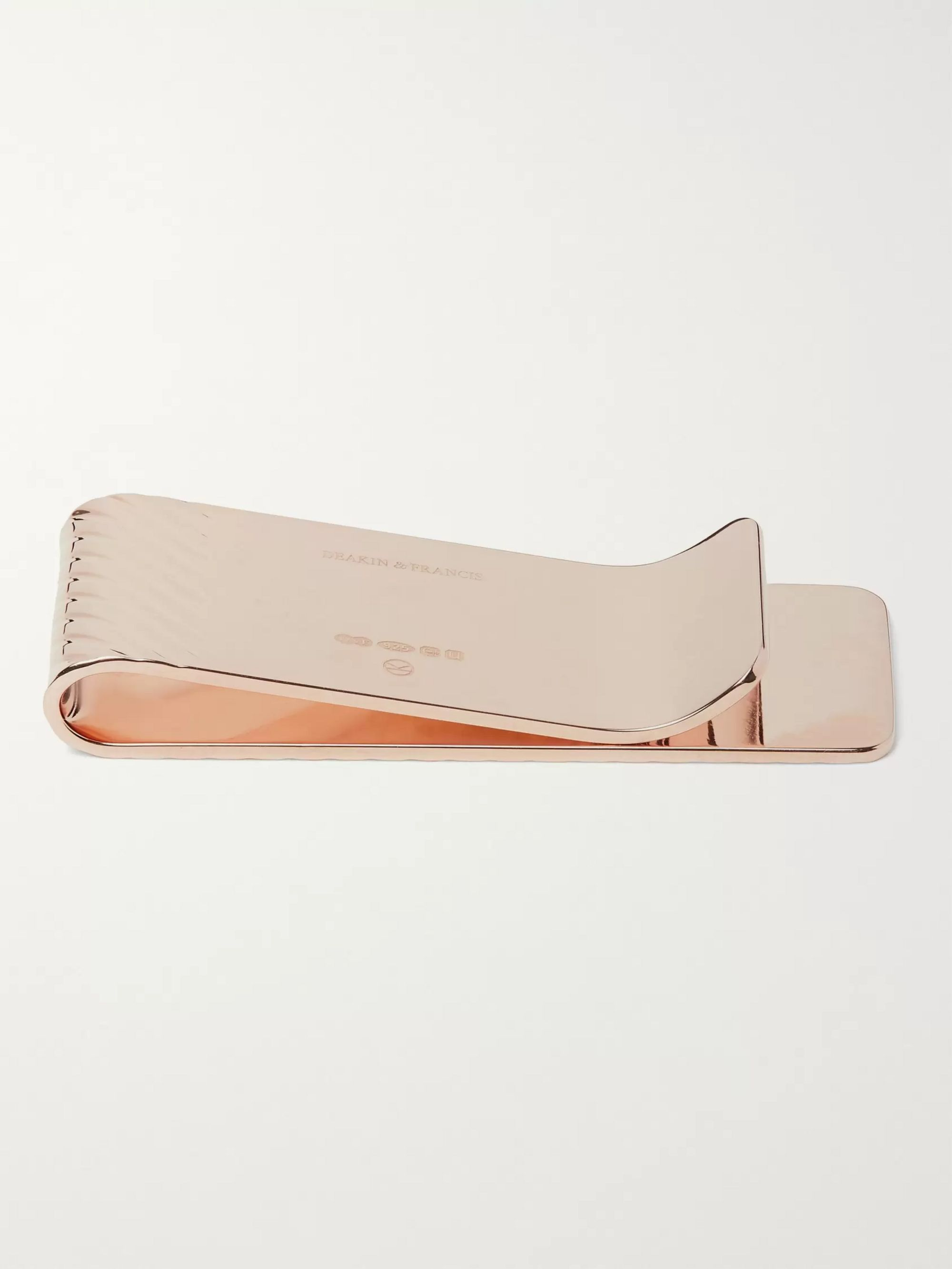 Kingsman + Deakin & Francis Rose Gold-Plated Money Clip