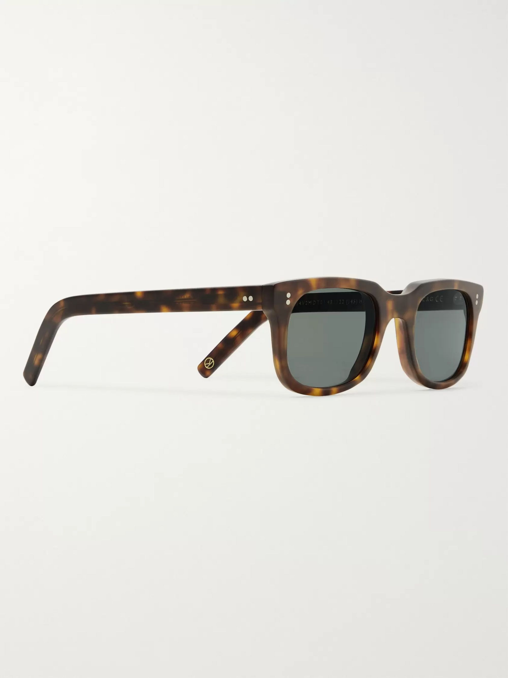 Kingsman + Culter and Gross Square-Frame Matte Tortoiseshell Acetate Sunglasses