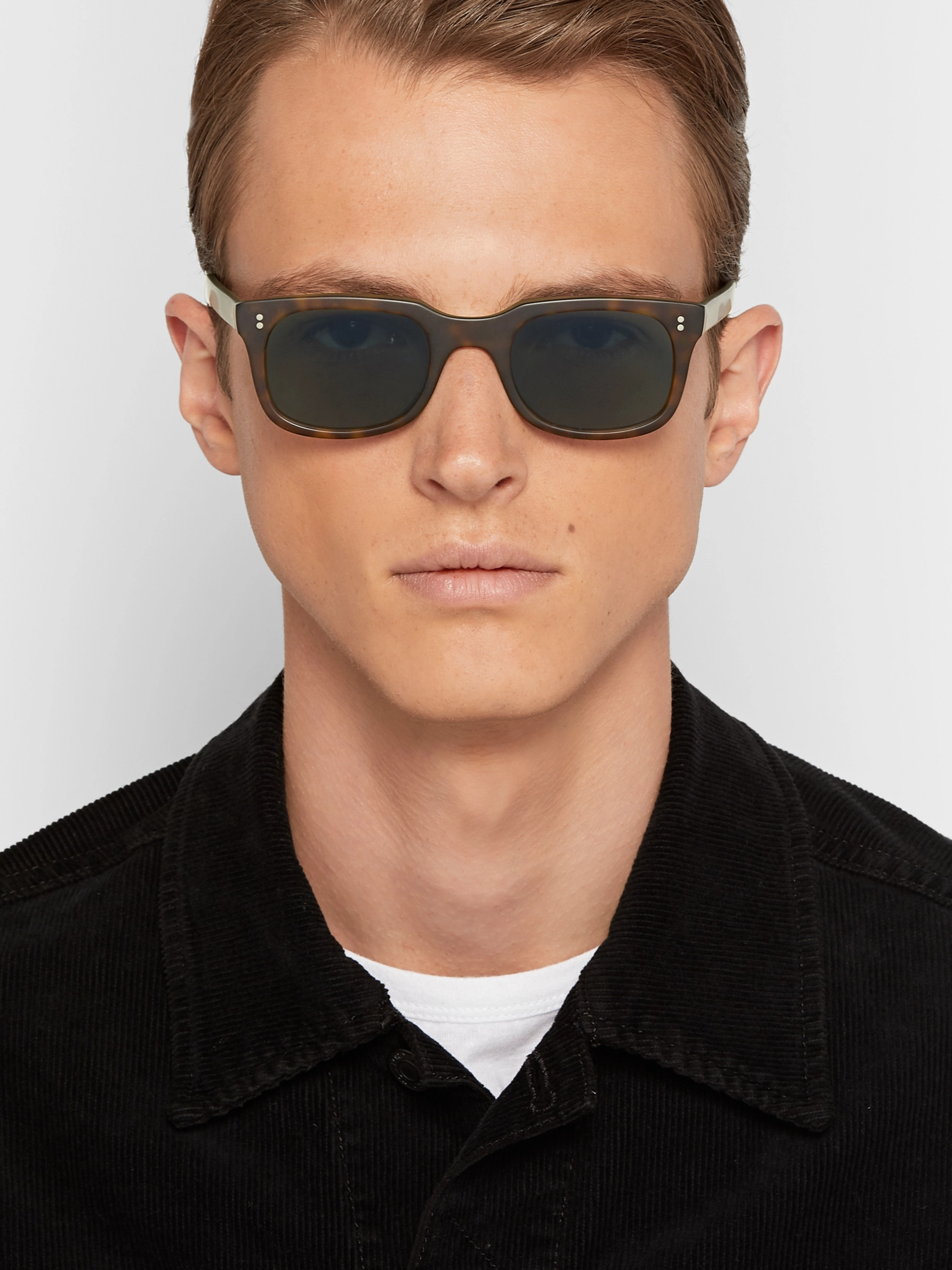 f93f9b0ca5 Kingsman + Culter and Gross Square-Frame Matte Tortoiseshell Acetate  Sunglasses
