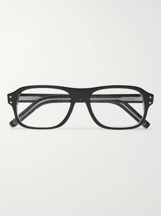 KINGSMAN + Cutler and Gross Rectangle-Frame Acetate Optical Glasses
