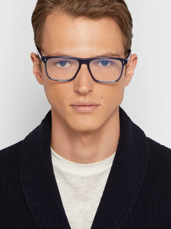 Kingsman + Cutler and Gross Square-Frame Acetate Optical Glasses
