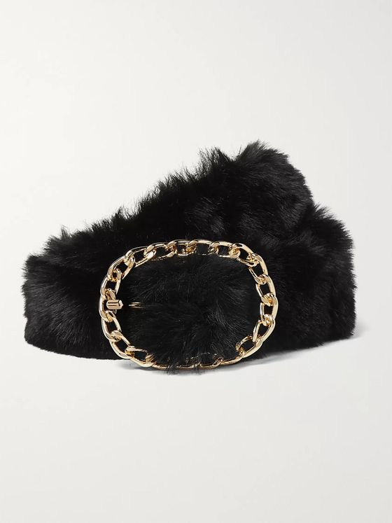 Martine Rose 4cm Faux Fur Belt