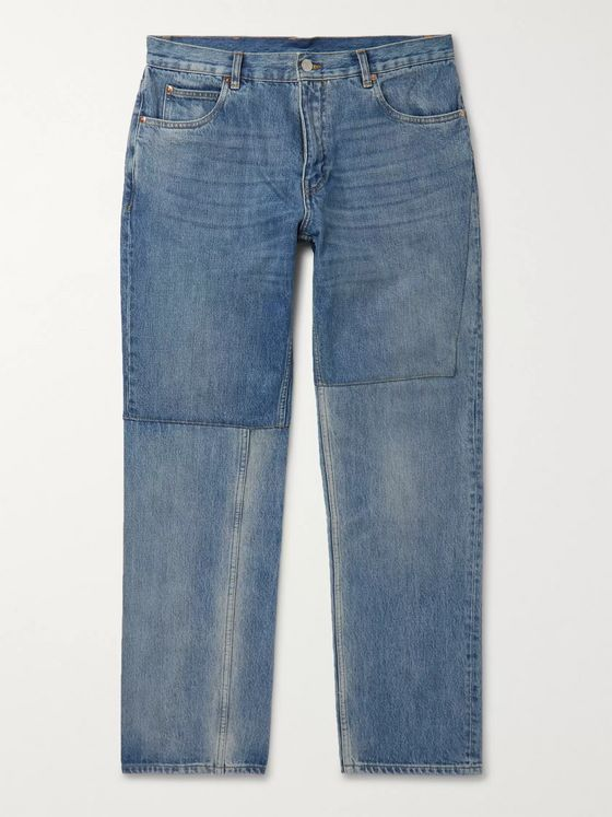 Martine Rose Slim-Fit Panelled Denim Jeans