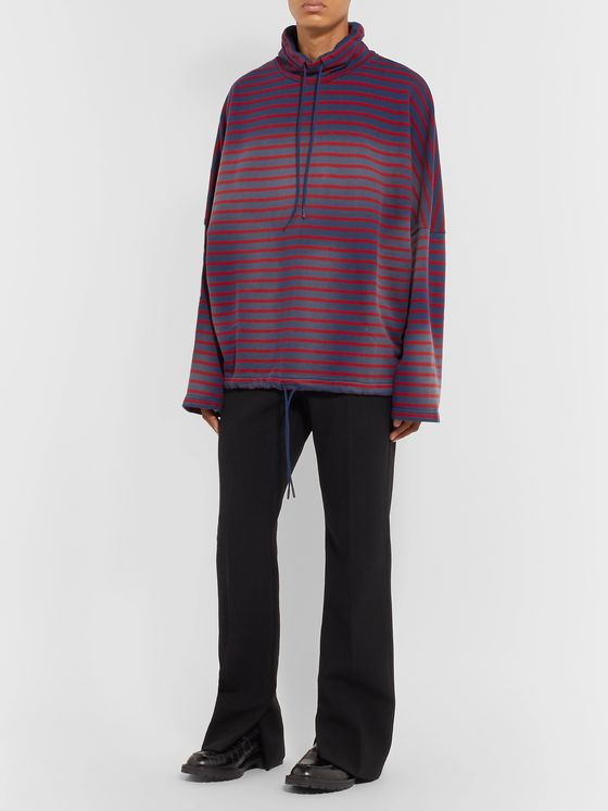 Martine Rose Striped Loopback Cotton-Jersey Hoodie