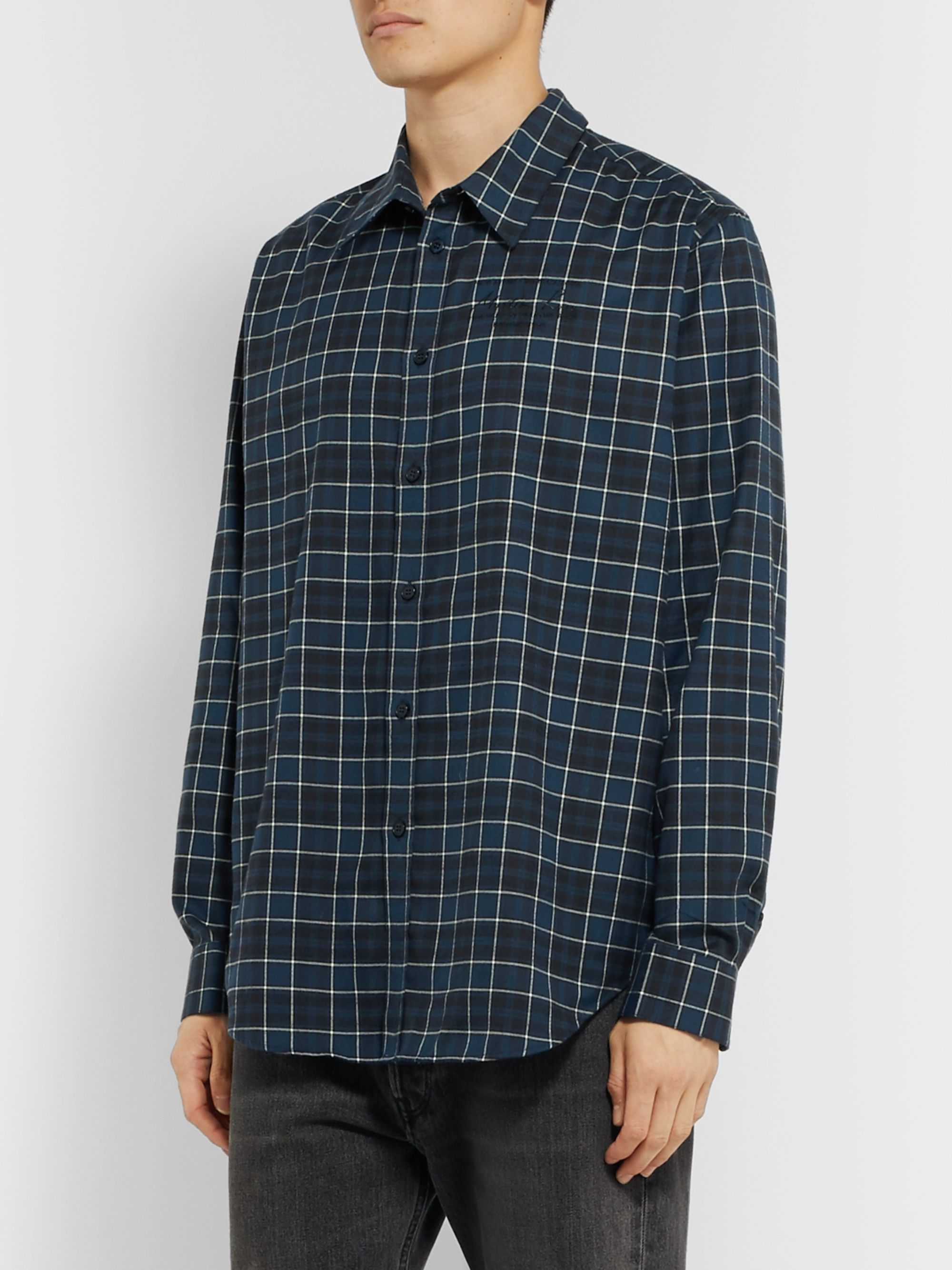 Martine Rose Checked Cotton-Flannel Shirt