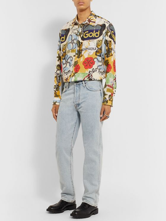 Martine Rose Jamaika Printed Linen Shirt