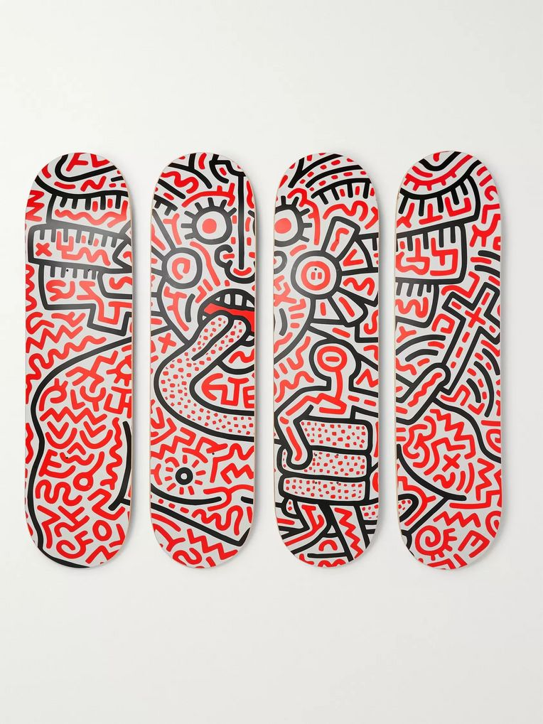 The SkateRoom + Keith Haring Set of Four Printed Wooden Skateboards