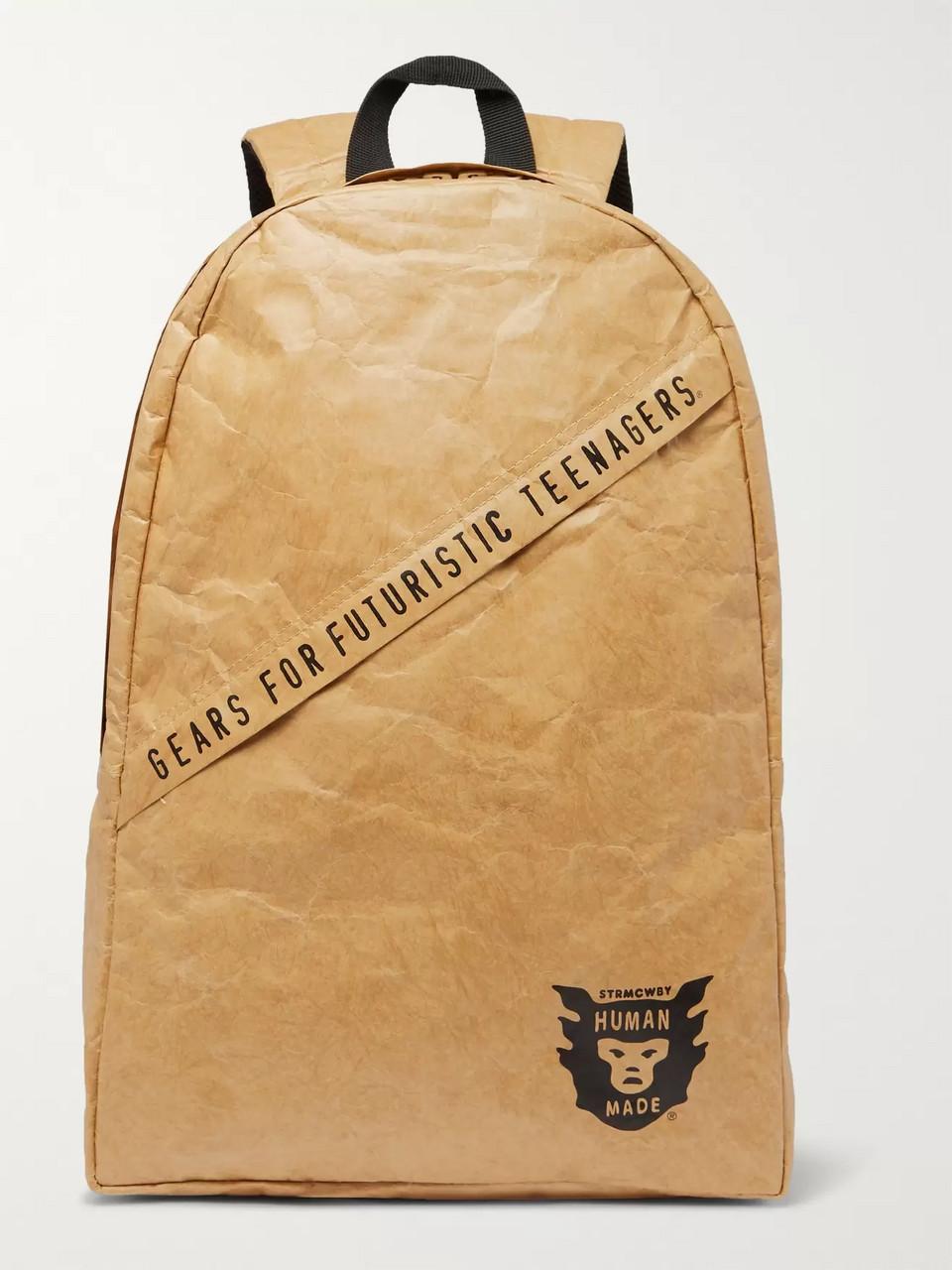 78783385c0b2f Human Made Logo-Print Paper-Effect Backpack