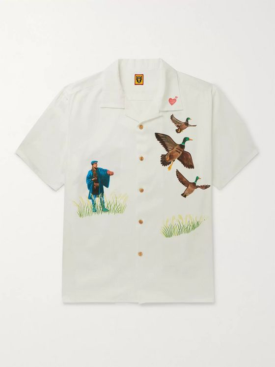 Human Made Yokosuka Camp-Collar Printed Voile Shirt