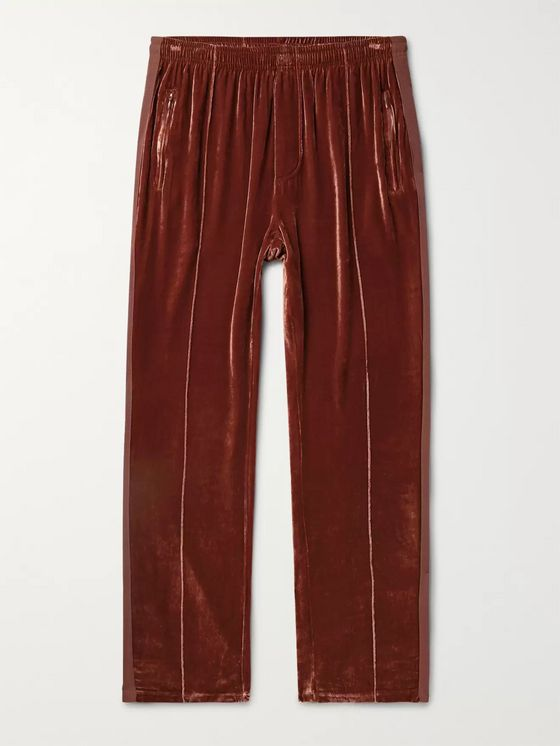Our Legacy Webbing-Trimmed Velvet Sweatpants