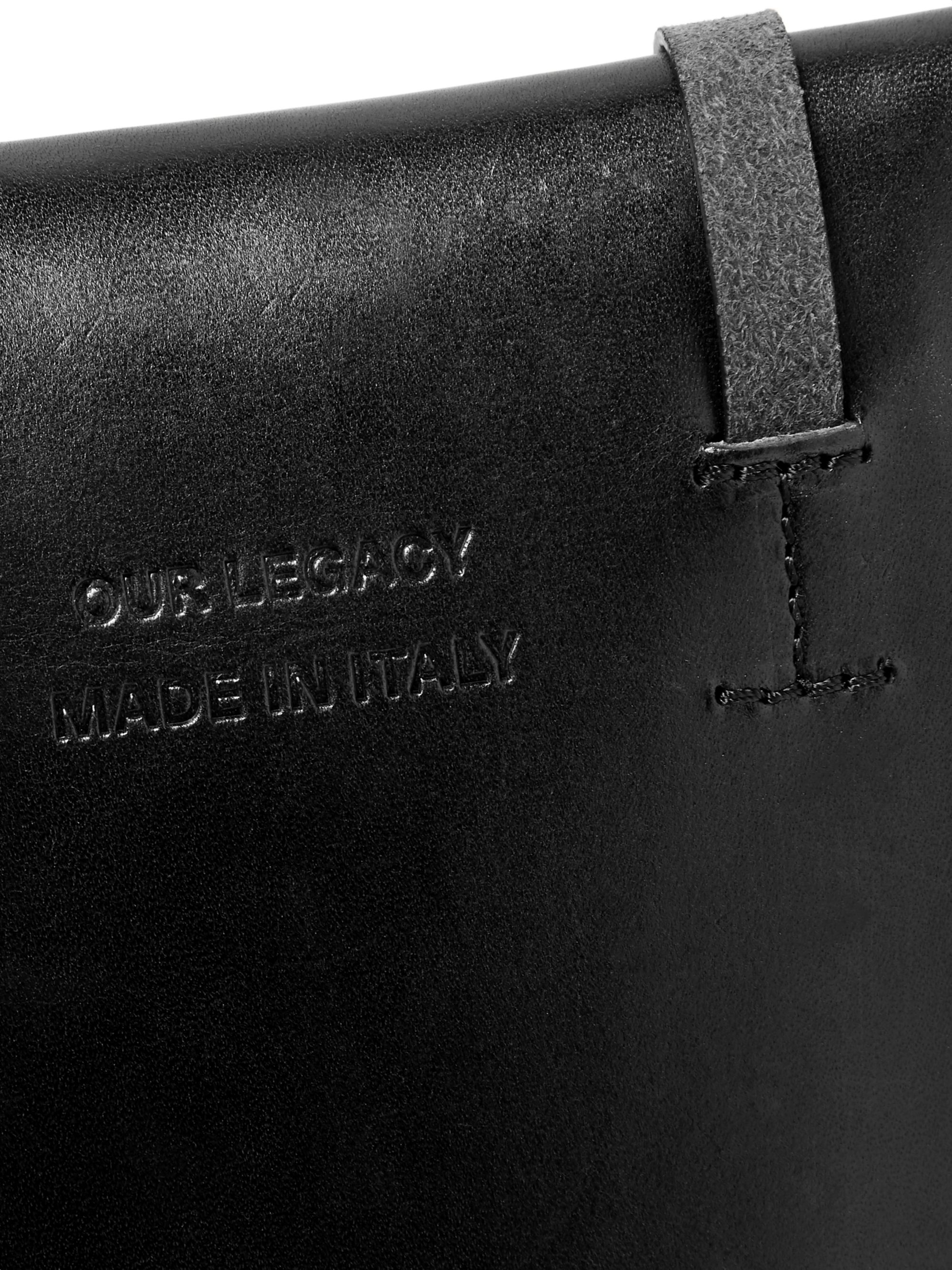 Our Legacy Leather and Latex Messenger Bag