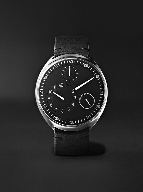 RESSENCE Type 1 Slim Mechanical 42mm Titanium and Leather Watch