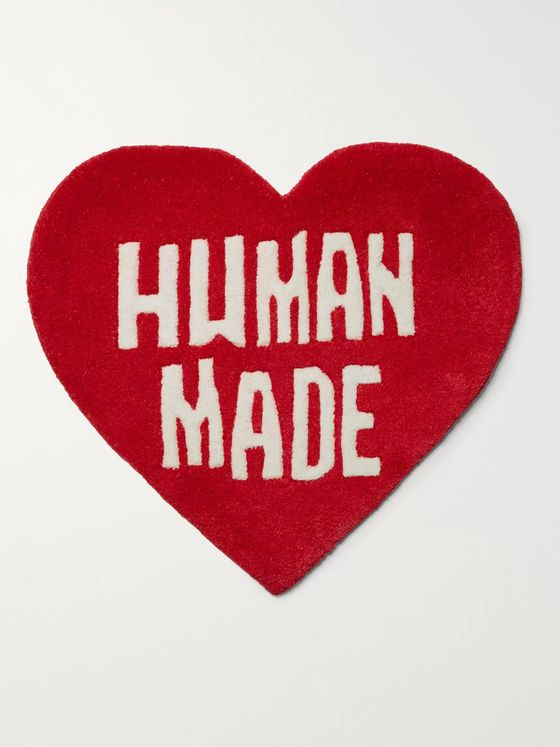 Human Made Logo-Detailed Wool and Cotton-Blend Rug