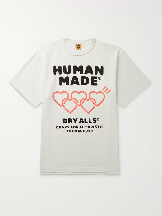 Human Made Logo-Print Slub Cotton-Jersey T-Shirt