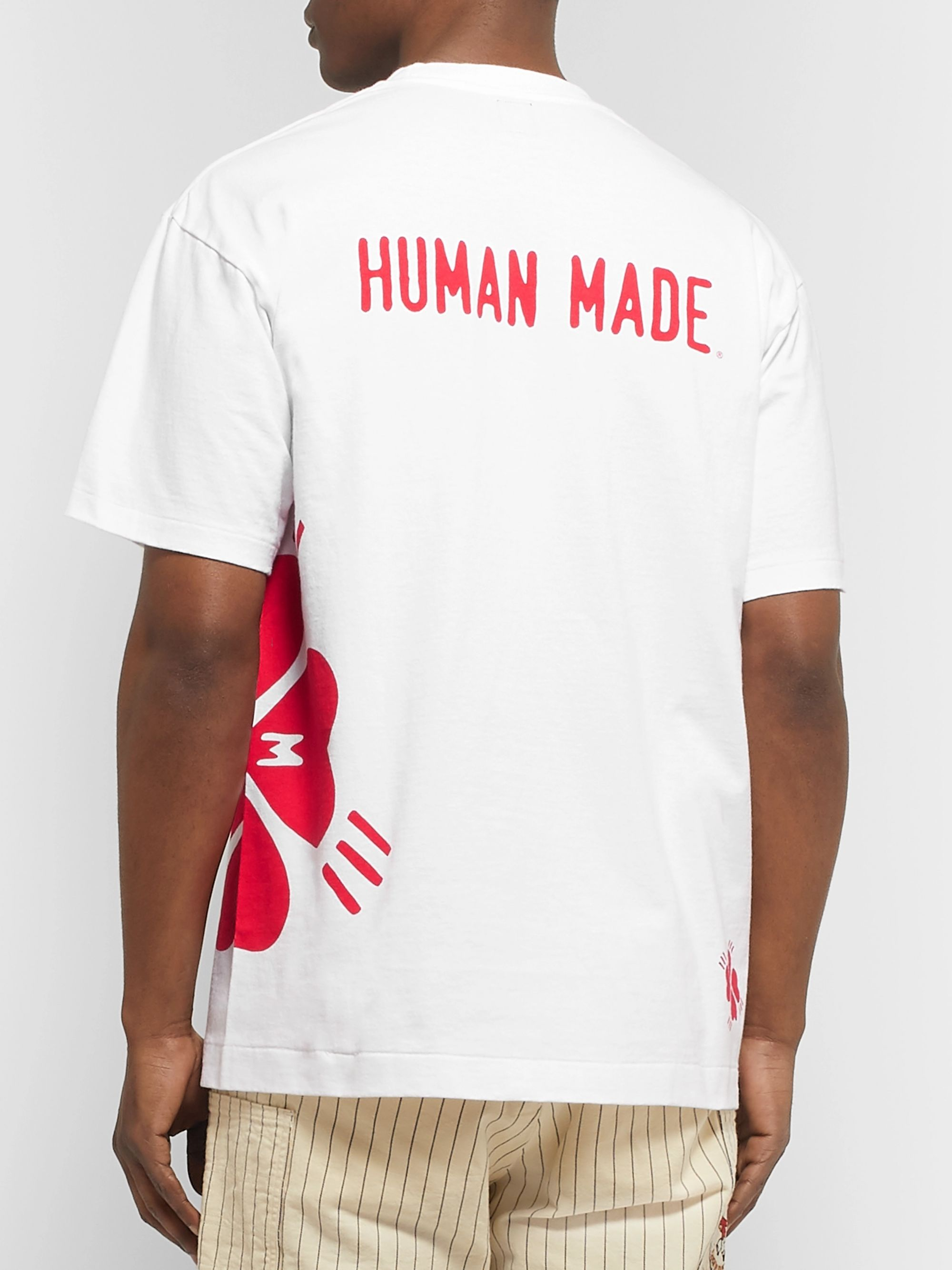 Human Made Printed Cotton-Jersey T-Shirt