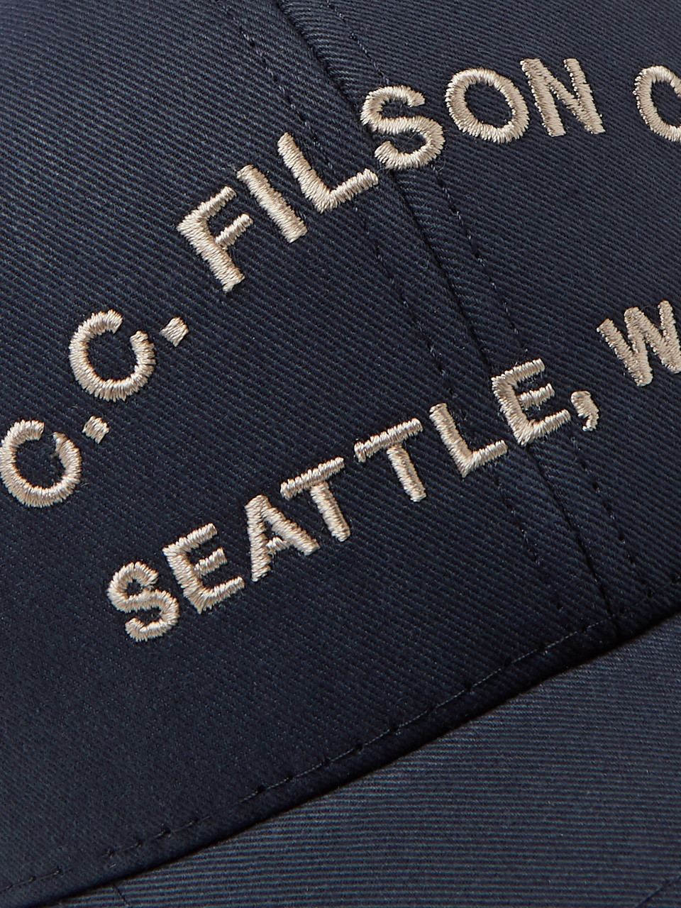 Filson Logo-Embroidered Canvas and Mesh Trucker Cap