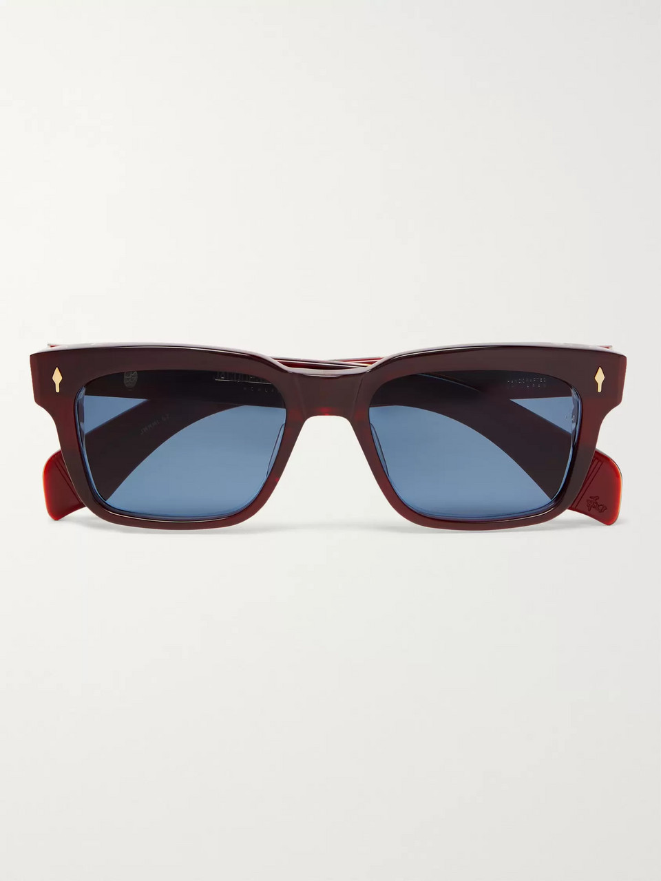 Jacques Marie Mage Molino Square-Frame Acetate and 18-Karat Gold Sunglasses