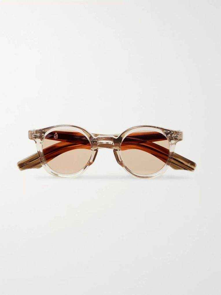Jacques Marie Mage Felix Round-Frame Acetate Sunglasses