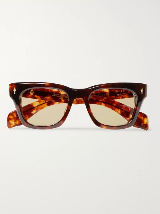 Jacques Marie Mage Dealan D-Frame Tortoiseshell Acetate Sunglasses