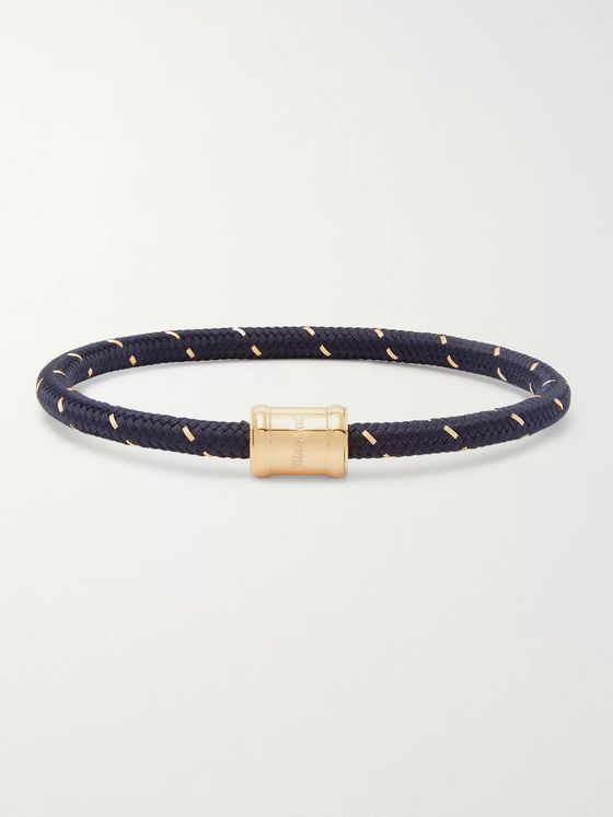 Miansai Gold-Tone, Nylon and Steel Rope Bracelet