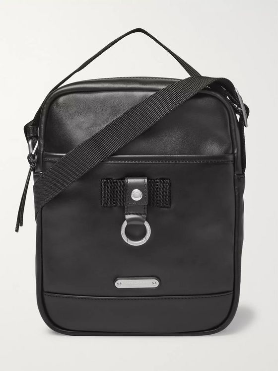 SAINT LAURENT Rivington Race Leather Messenger Bag