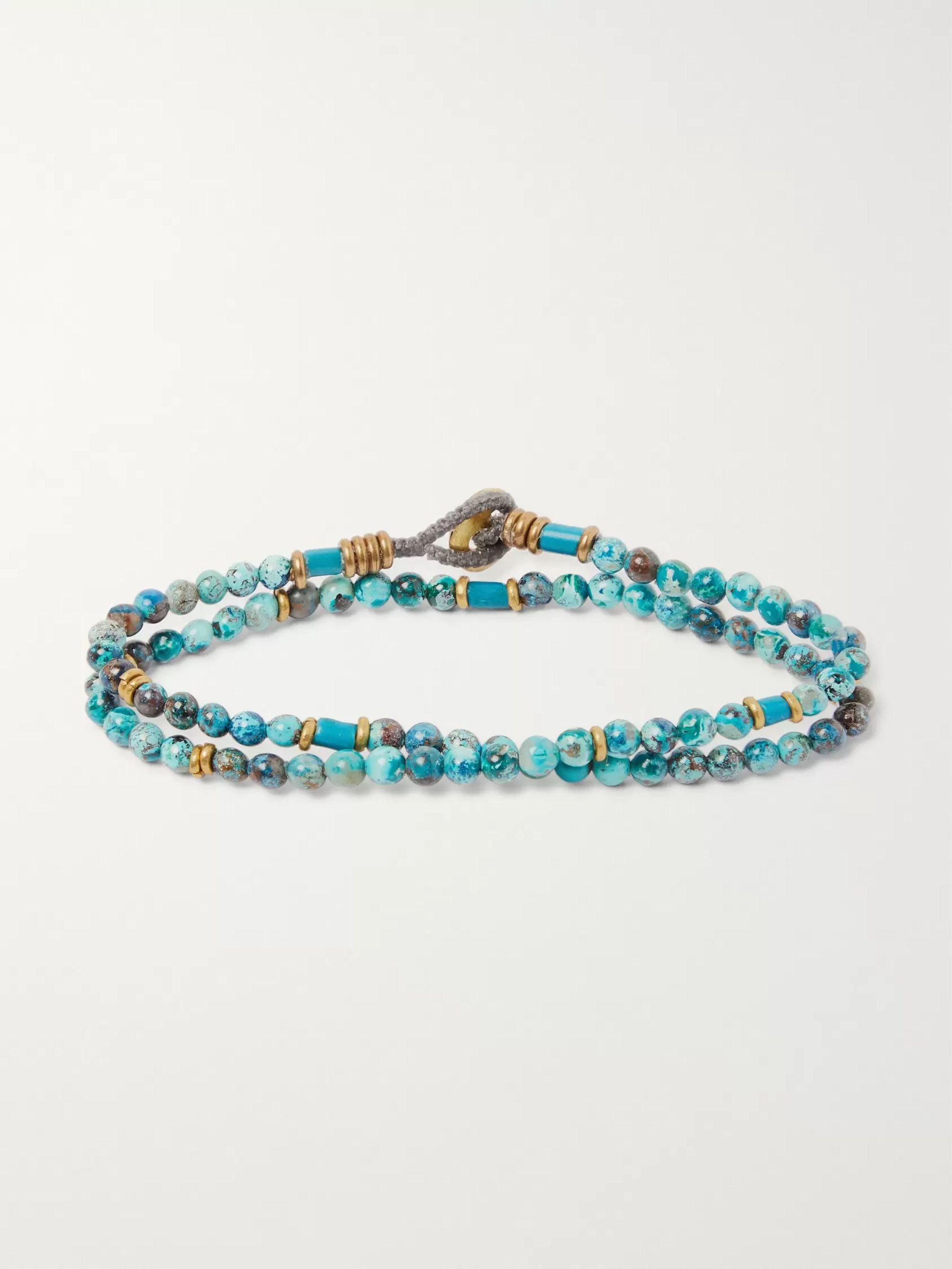 Mikia Chrysocolla Beaded Wrap Bracelet