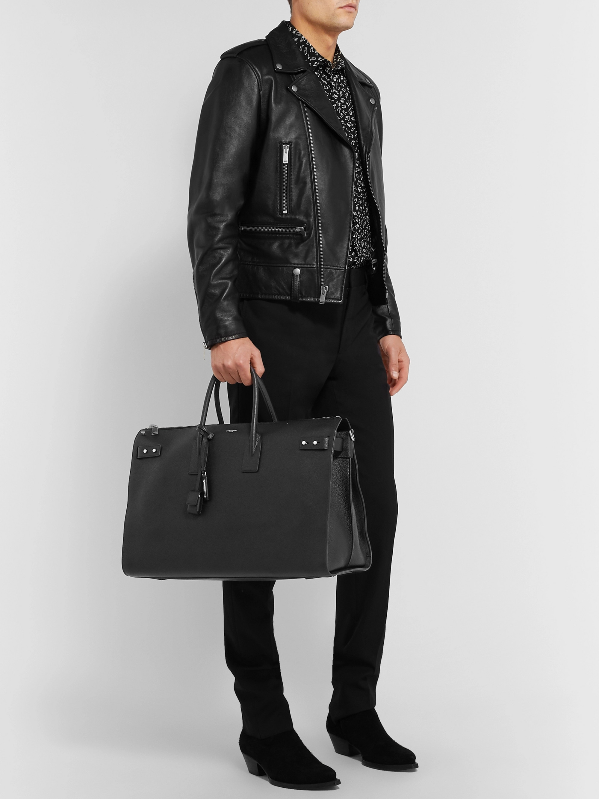 SAINT LAURENT Sac De Jour Medium Full-Grain Leather Holdall