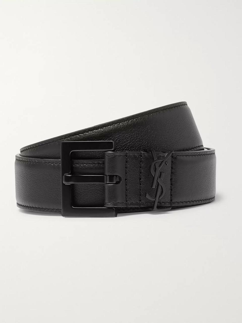 14db51761f2 Black 3cm Black Full-Grain Leather Belt | SAINT LAURENT | MR PORTER