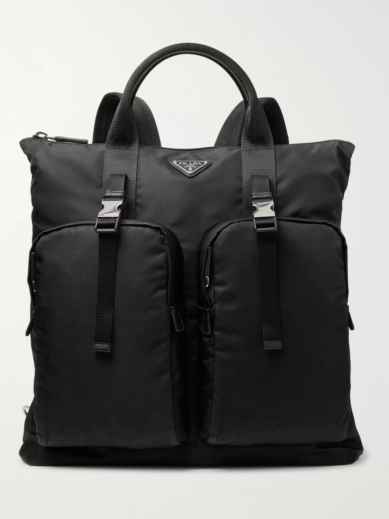 2e285e8788 Leather-Trimmed Nylon Backpack