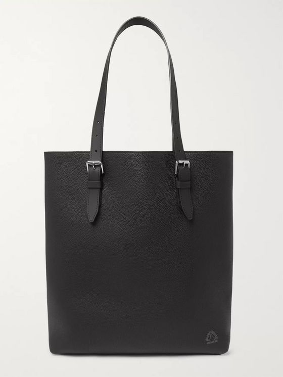 Globe-Trotter Centenary North/South Full-Grain Leather Tote Bag