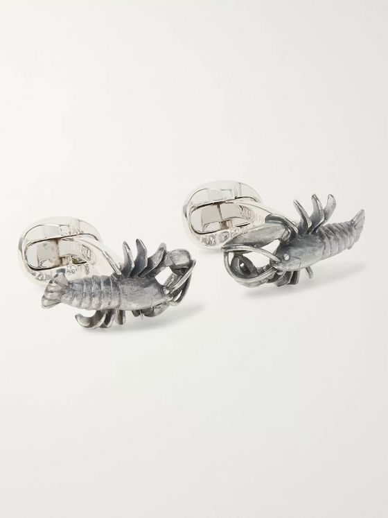 Deakin & Francis Lobster Oxidised Sterling Silver Cufflinks