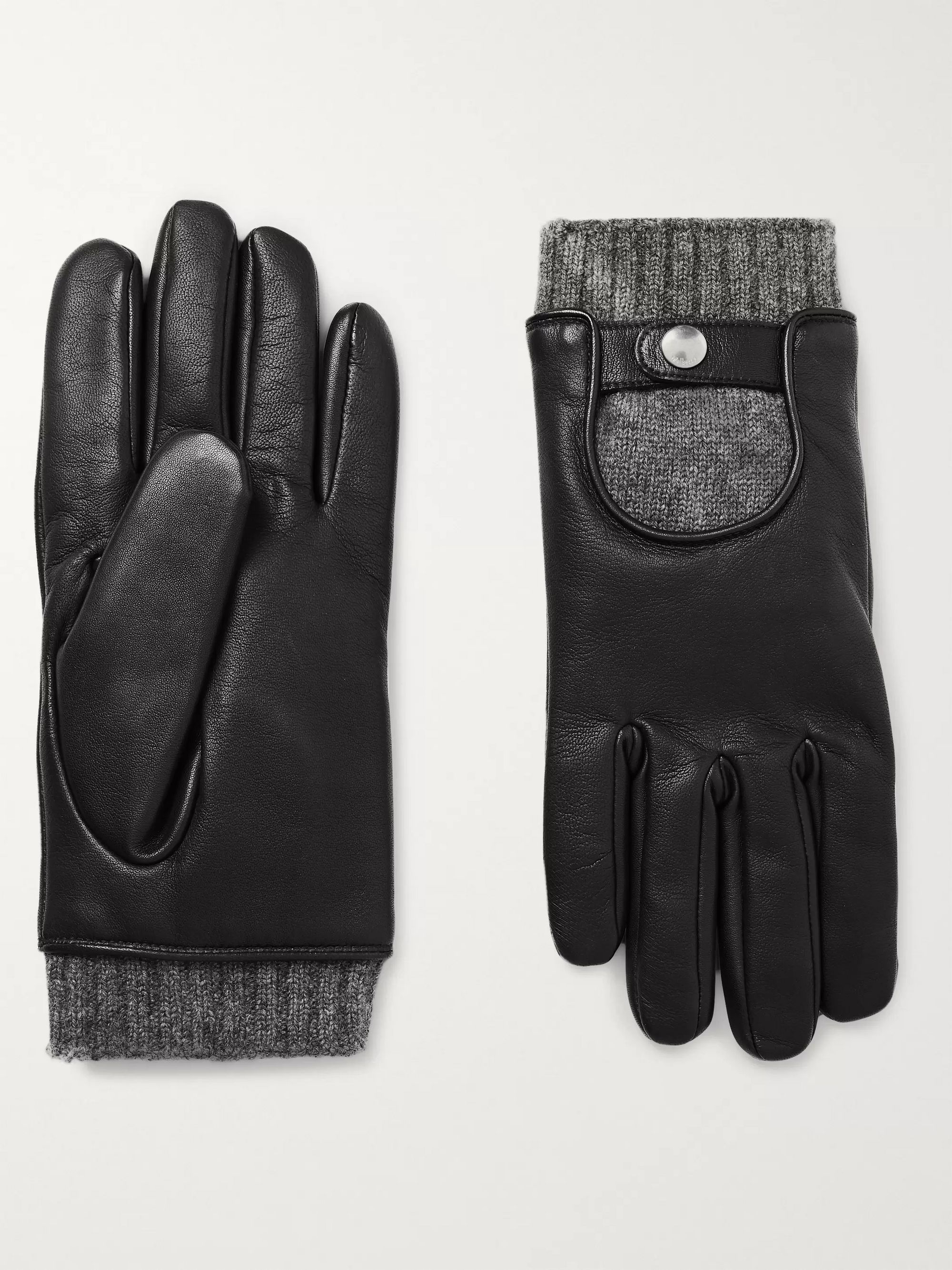 Mulberry Cashmere-Lined Leather Gloves