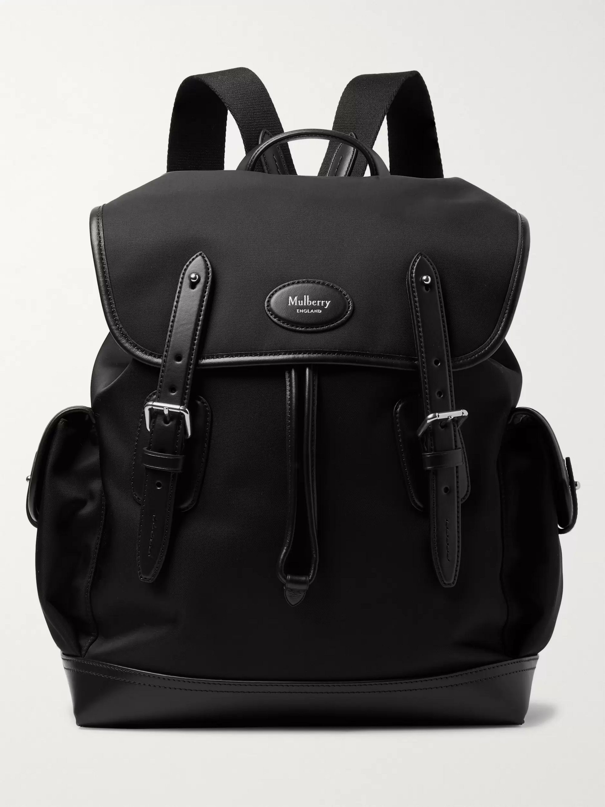 Mulberry Heritage Leather-Trimmed Nylon Backpack