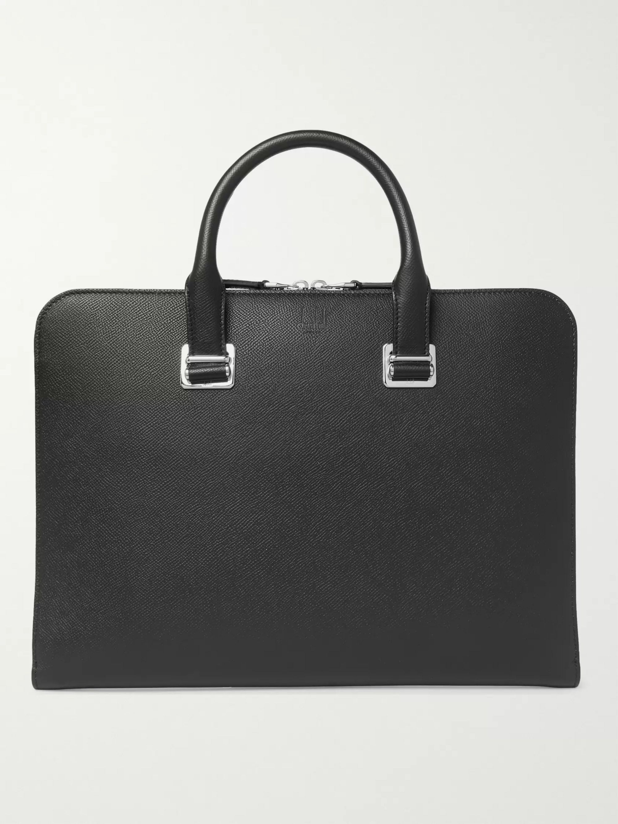 Dunhill Cadogan Pebble-Grain Leather Briefcase