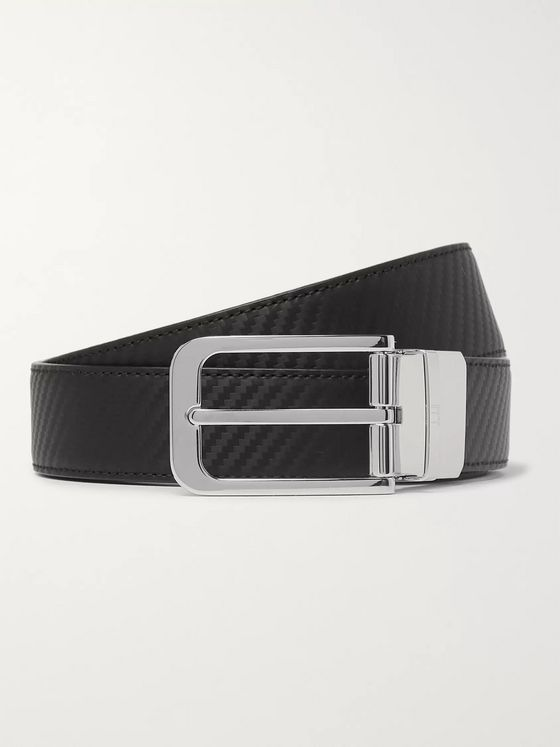 Dunhill 3cm Black and Brown Reversible Leather Belt