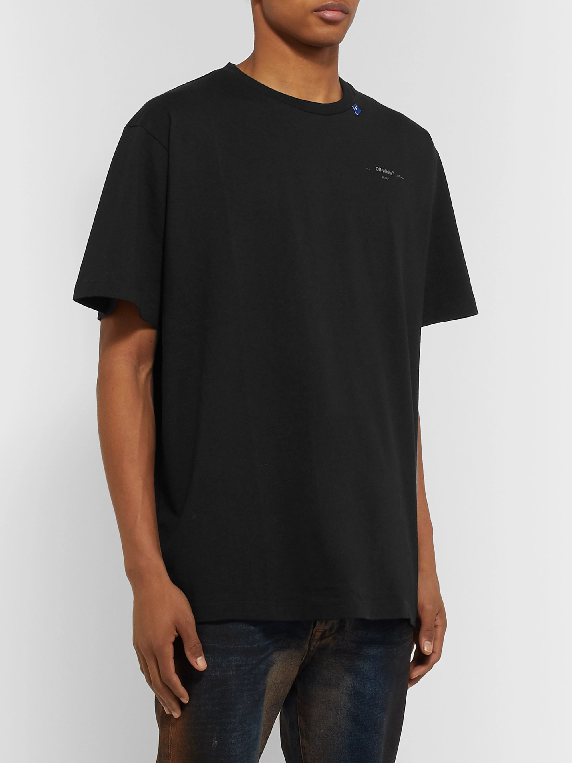 Off-White Logo-Print Cotton-Jersey T-Shirt