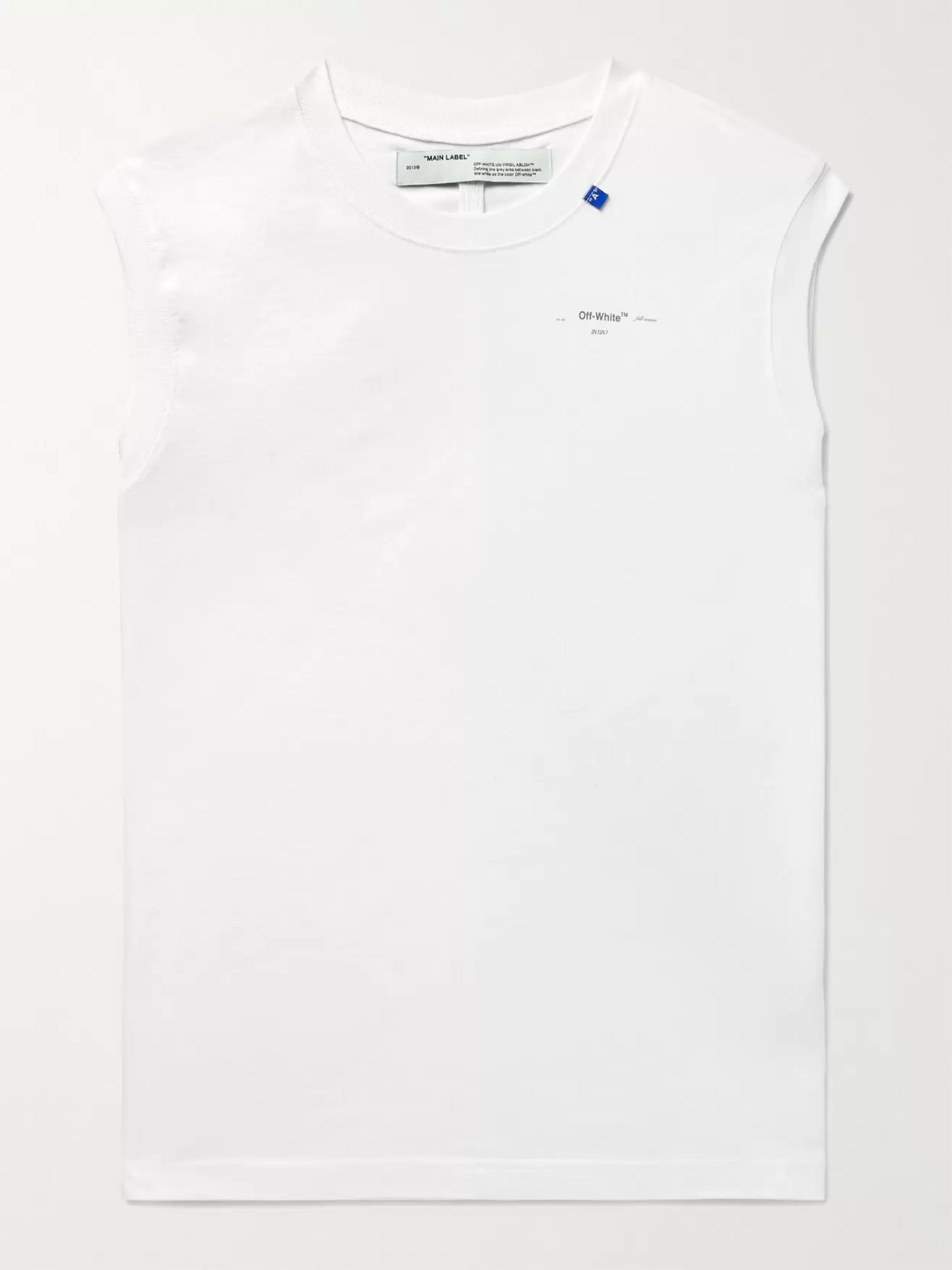 Off-White Logo-Print Cotton-Jersey Tank Top