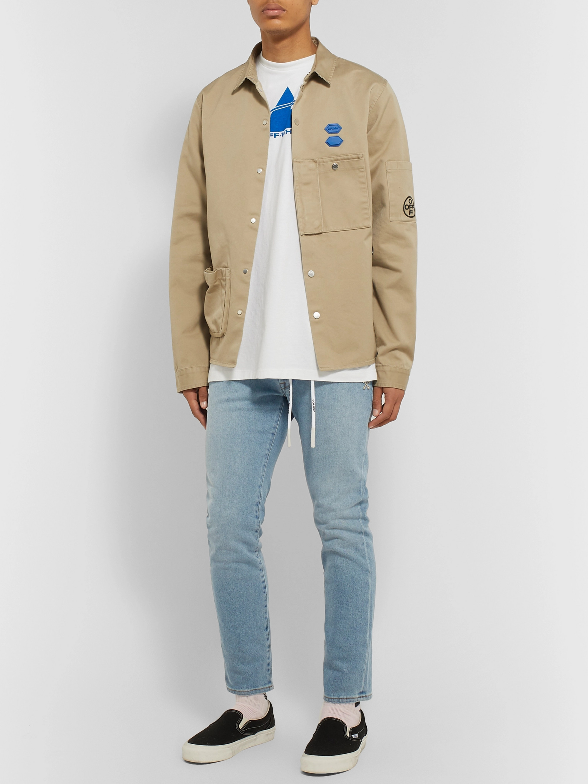 Off-White Skinny-Fit Denim Jeans