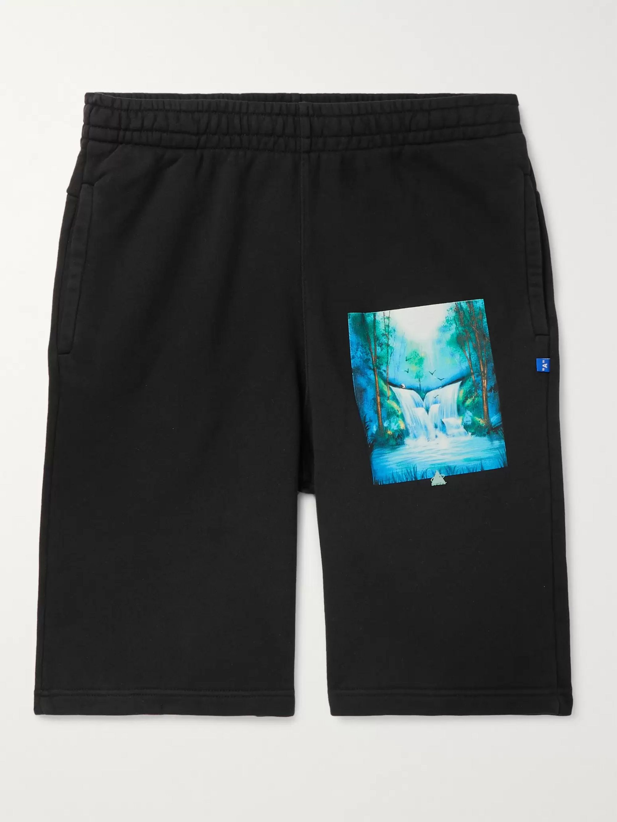 Off-White Printed Loopback Cotton-Jersey Drawstring Shorts