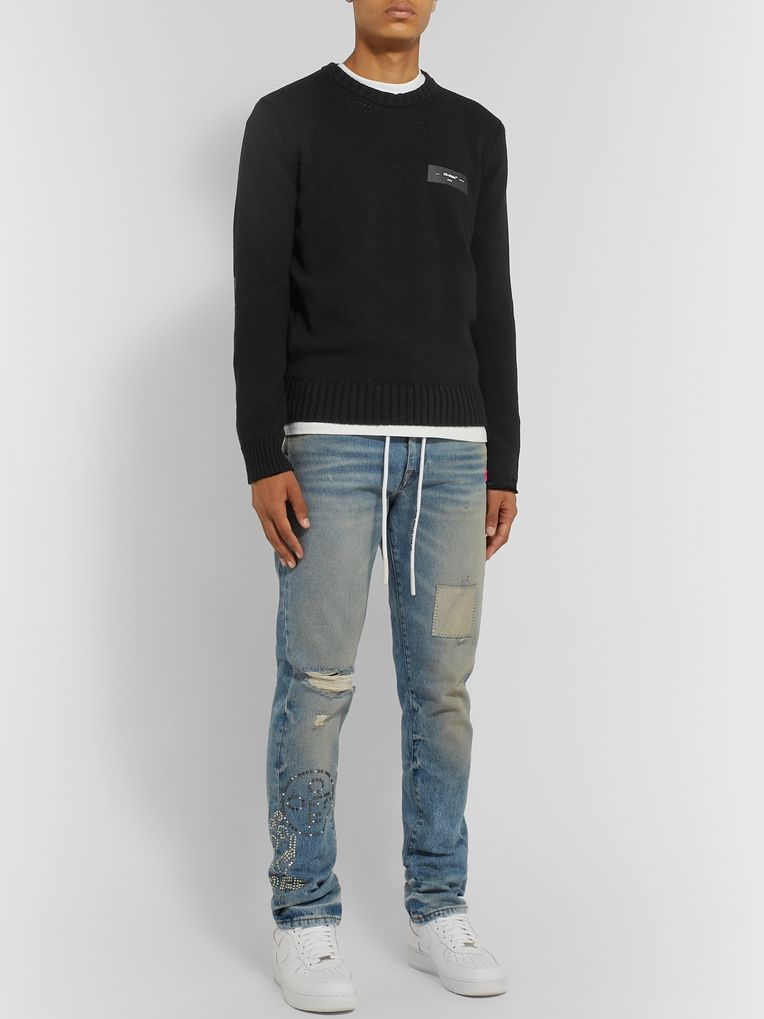 Off-White Logo-Print Cotton Sweater