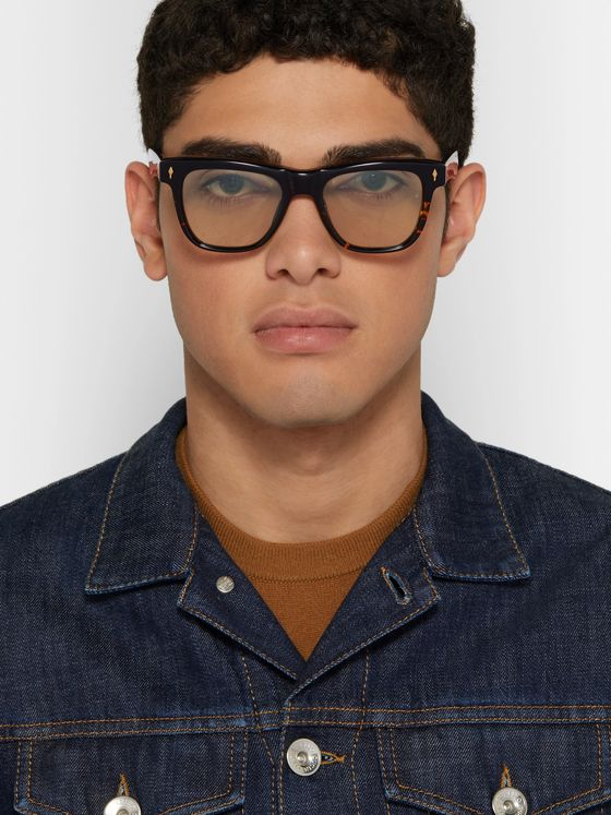 Jacques Marie Mage Fitzgerald D-Frame Tortoiseshell Acetate Sunglasses