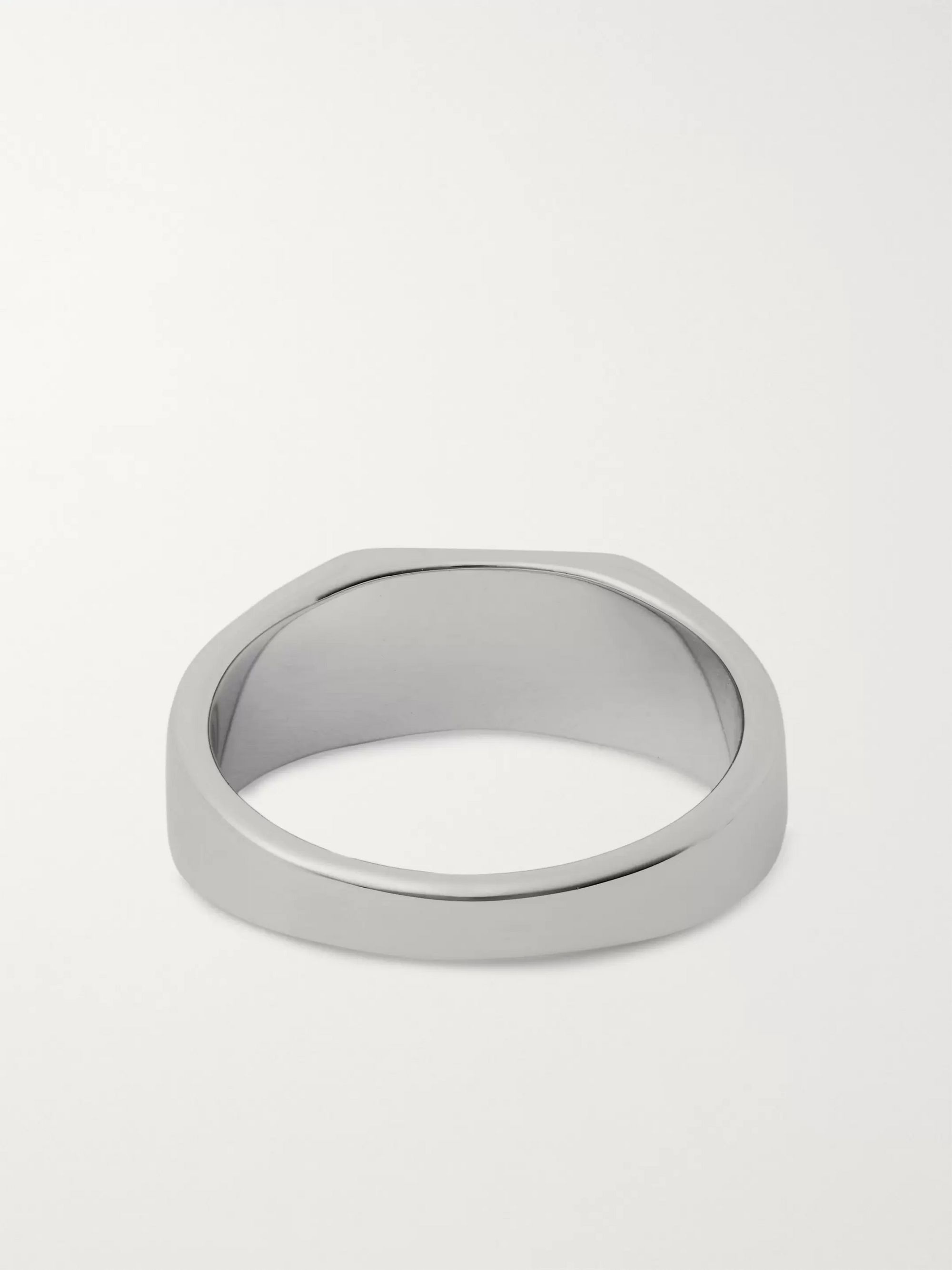 Miansai Polished Sterling Silver Signet Ring