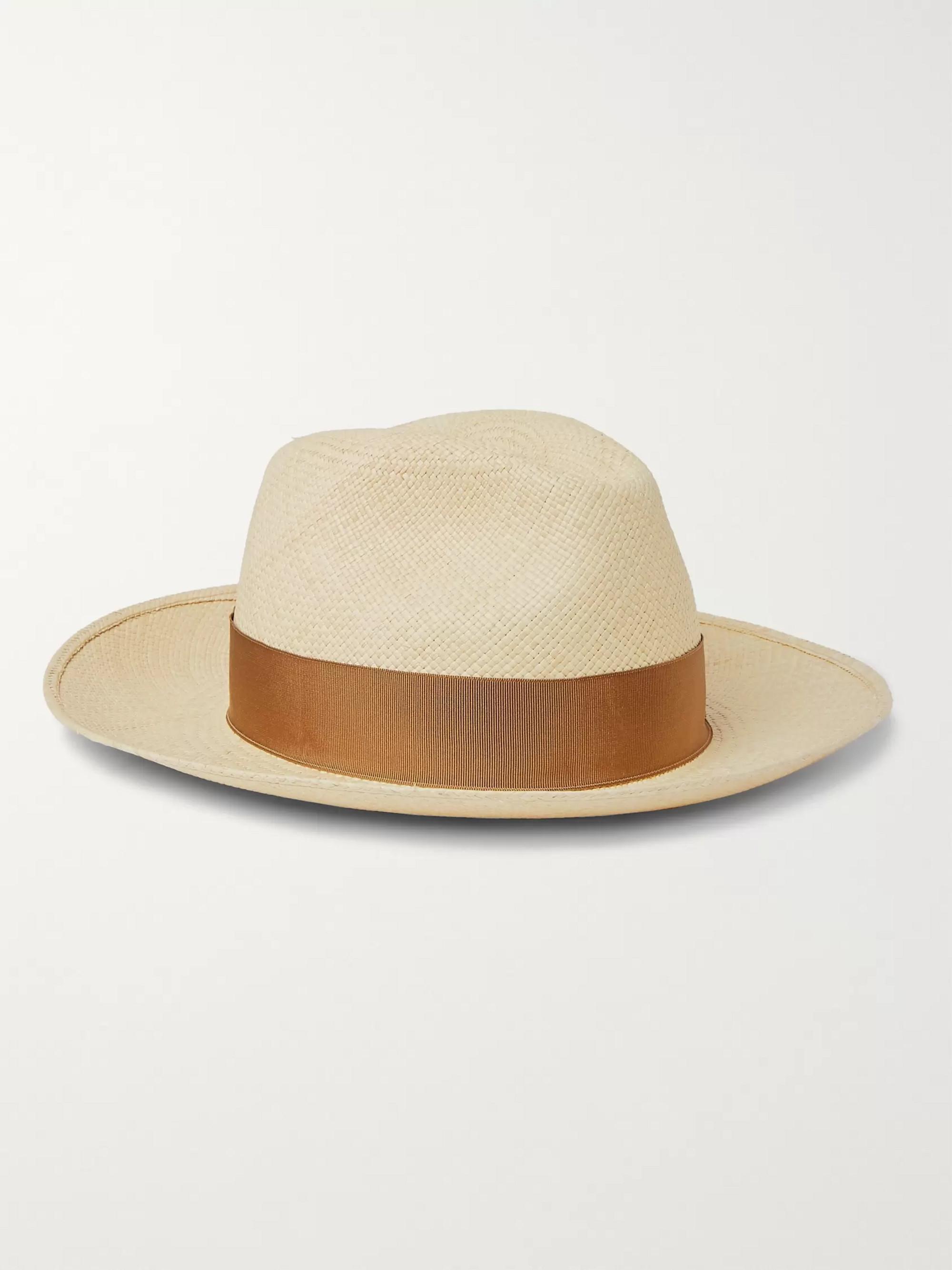 687dea55189a5c Tan Grosgrain-Trimmed Straw Panama Hat | Borsalino | MR PORTER