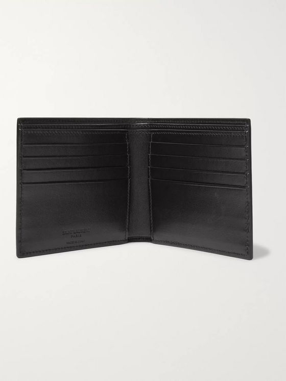 SAINT LAURENT Printed Leather Billfold Wallet