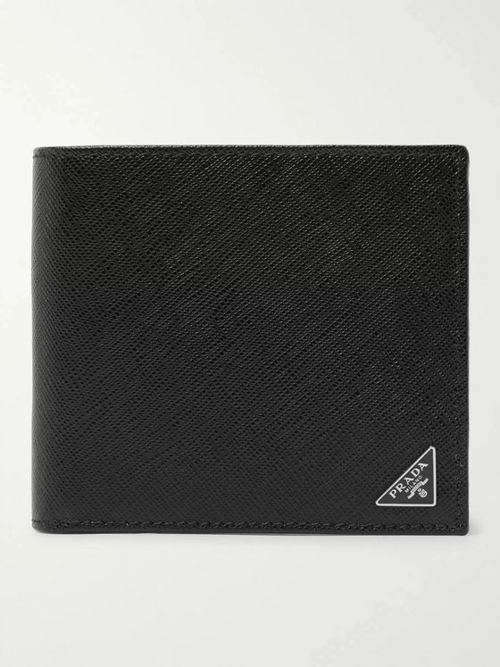 Prada Logo-Appliquéd Saffiano Leather Billfold Wallet