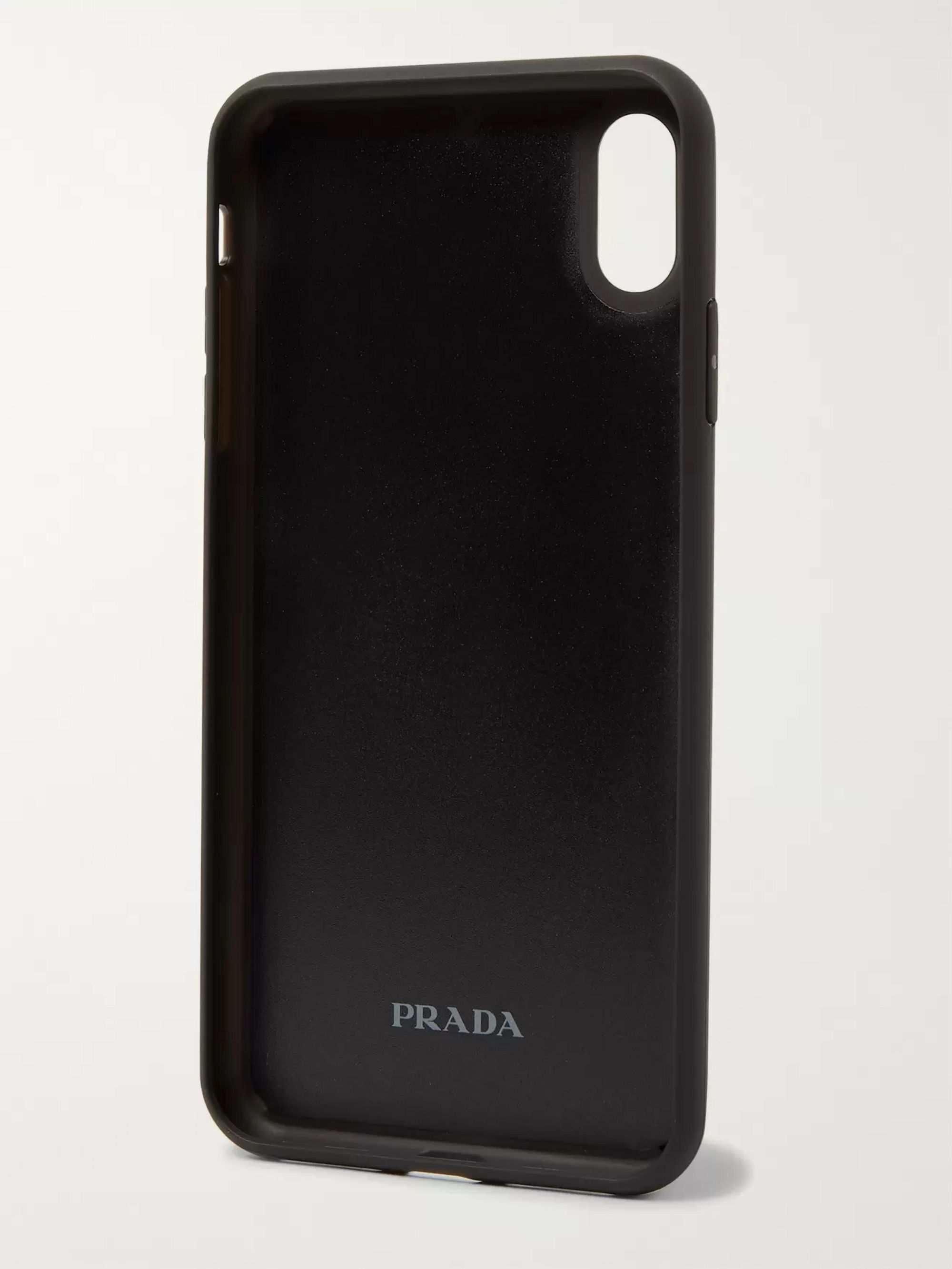 Prada Logo-Detailed Rubber iPhone XS Max Case