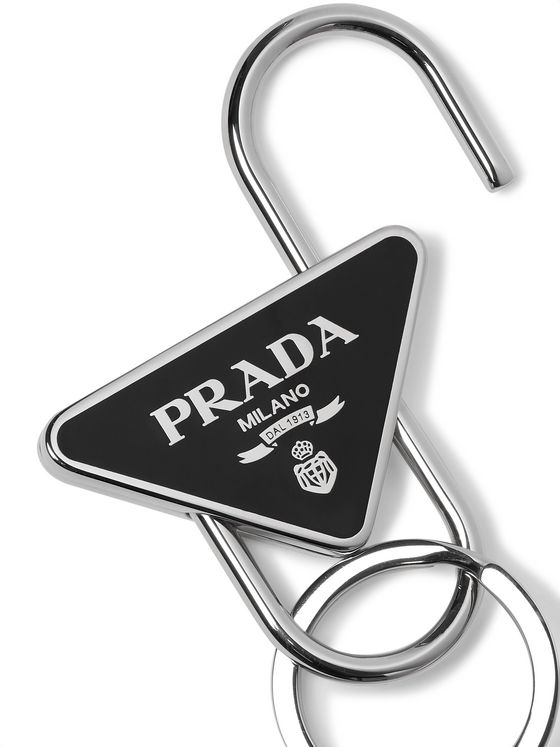 Prada Steel and Enamel Key Ring