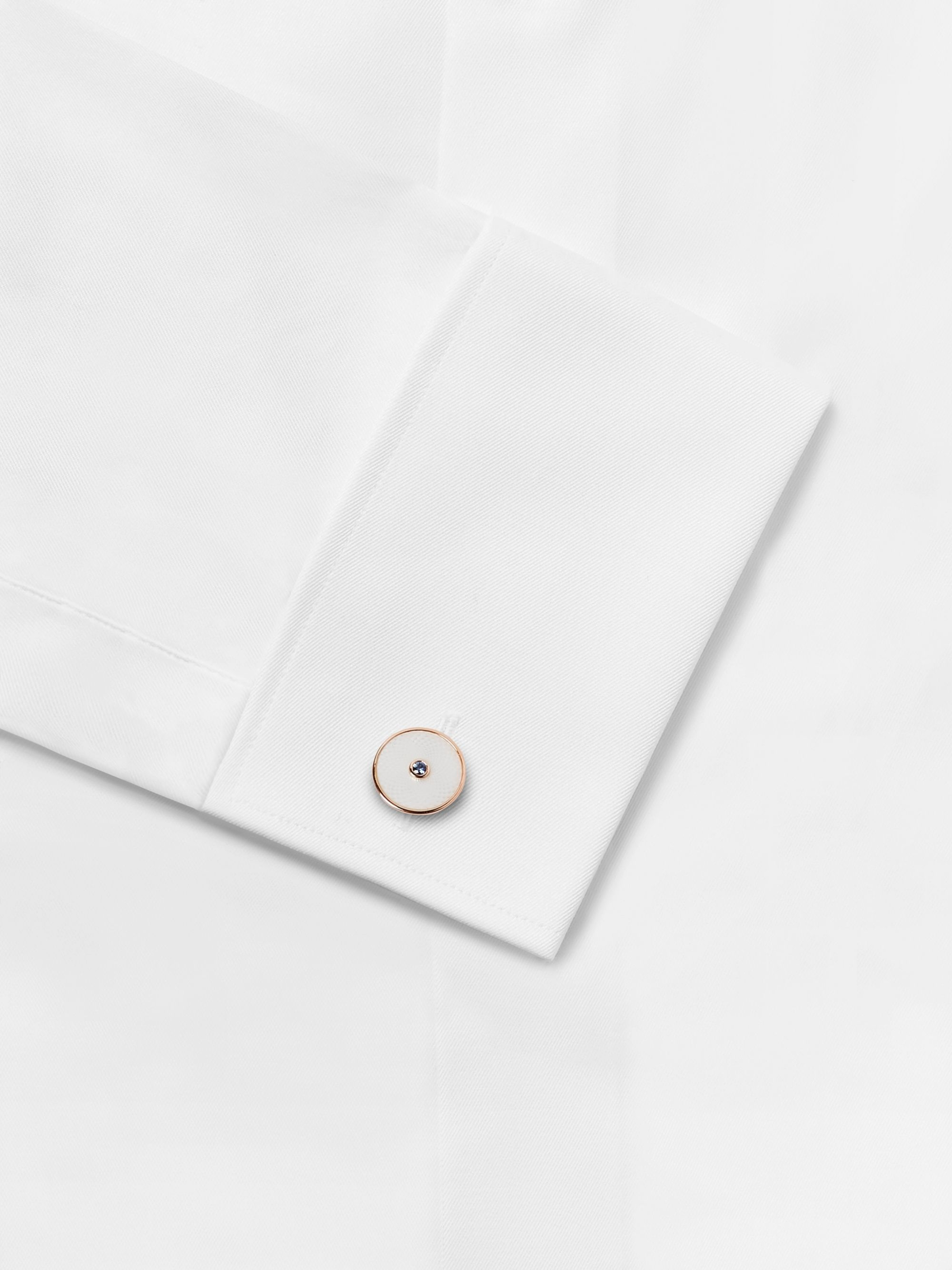 Deakin & Francis Dreamcatcher Rose Gold-Plated, Mother-of-Pearl and Sapphire Cufflinks