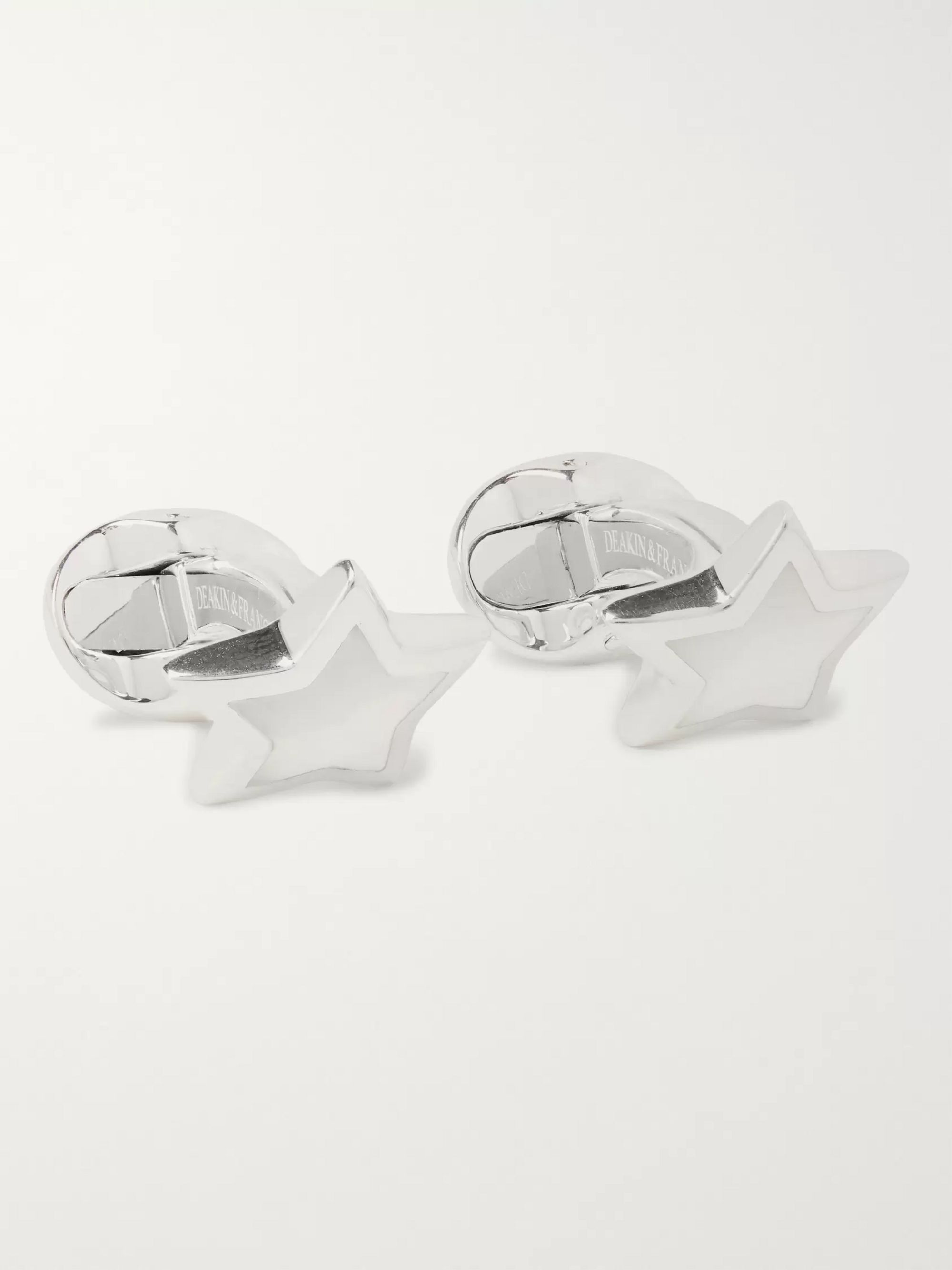 Deakin & Francis Star Sterling Silver Mother-of-Pearl Cufflinks