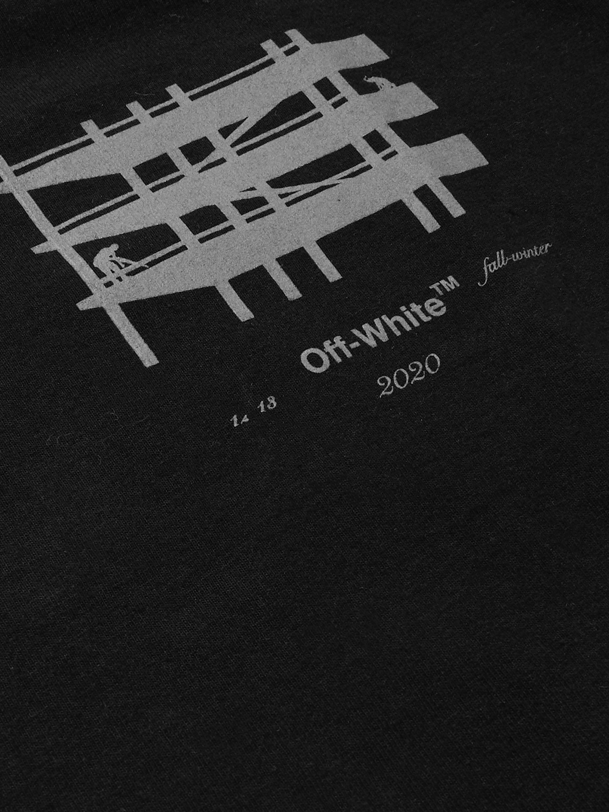 Off-White Slim-Fit Reflective-Trimmed Cotton-Jersey T-Shirt